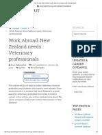 Work Abroad_ New Zealand Needs Veterinary Professionals-Apnaahangout