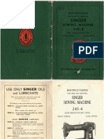 Singer 245-4 User Manual