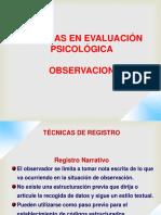 Registro de Observacion