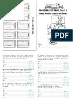 UN MONTON de PROBLEMAS Cuadernillo de Problemas 1º y 2º Primaria SAFA ANDUJAR Sumas Llevando y Restas Sin Llevada