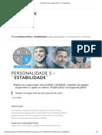 Personalidade DISC_ S – Estabilidade