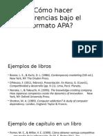 Cómo Hacer Referencias Bajo El Formato APA
