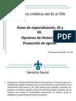 Areas de Especialización Ss y Er