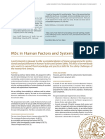 Lund Msc Human Factors Systems Safety