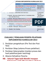 Tugas Selama Pelatihan Implementasi Kurikulum 2013