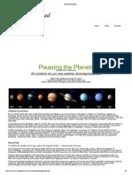 Pleasing Planets