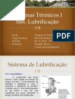 SistTermicos1 CAP13 Sistema Lubrificação