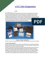 Pemrograman PLC Zelio Menggunakan Zelio Logic