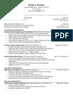 Fall 2017 Resume