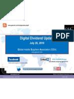 Digital Dividend Update July 2010