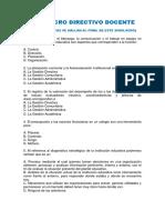 Simulacro Directivo Docente Con Respuestas