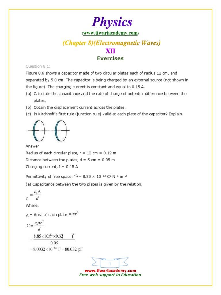 12 physics ncert solutions chapter 8 exercises em wavespdf 12 physics ncert solutions chapter 8 exercises em wavespdf electromagnetic radiation hertz publicscrutiny Gallery