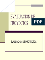 Evaluacion Financiacion de Proyectos