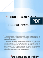 THRIFT BANKS ACT.pptx