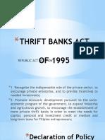 THRIFT BANKS ACT.pptx