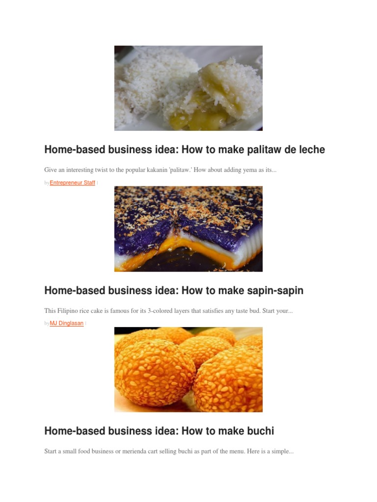 Beautiful Home Based Food Business Ideas Frieze - Home Decorating ...