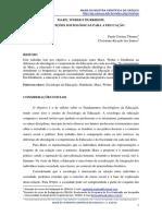 Contribuições Para Educação - Marx, Weber e Durkheim