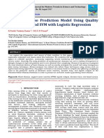 A Heart Disease Prediction Model Using Quality Management and SVM with Logistic Regression