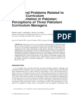 Issues and Problems Related to Science Curriculum Implementation in Pakistan- Perceptions of Three Pakistani Curriculum Managers-Aubusson1999