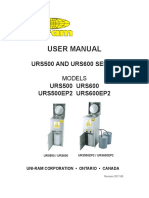 Manual_user - Urs500-600 Series