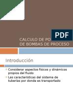 Calculo de Potencia de Bombas de Proceso