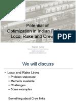 Optimization Potential in Indian Railways - Rajnish Kumar