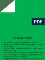 Nomenclatura inorganica