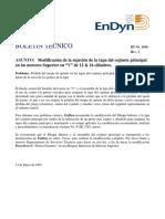 Reporte Tecnico Endyn Modificación de La Sujeción de La Tapa Del Cojinete Principal 1016