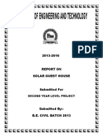 Report on Solar Guest House