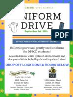 Uniform Drive Detroit students