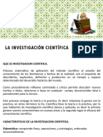 4. La Investigación Científica