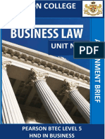 Assignment Brief Business Law Unit 7-2