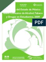 Encuesta Del Estado de Mexico, Sobre Consumo de Drogas en Estudiantes, 2009