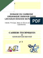 Dosage Du Carbone
