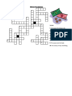 Money Vocabulary Crossword