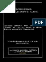 Marinha 2009 Capnav Primeiro Tenente Capelao Catolico Prova