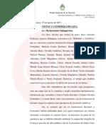 Citación de Julián Ercolini a CFK