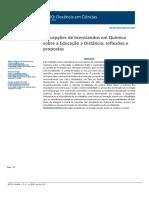 Análise em anais do ENPEC sobre a temática Avaliação em Química