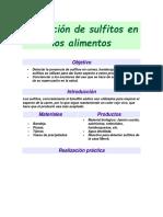 Detección de Sulfitos en Alimentos