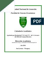 Calendario Academico 2016