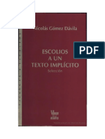 Nicolás Gómez Dávila - Escolios a un texto implícito.pdf