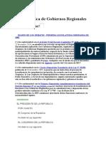 Ley Organica de Gobiernos Regionales