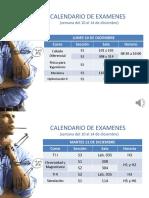 Calendario Examenes 2012-2
