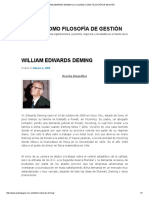 William Edwards Deming _ La Calidad Como Filosofía de Gestión