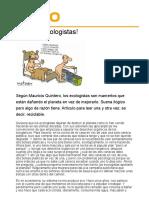 No más ecologistas-Mauricio Quintero