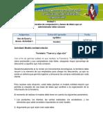Actividad de Aprendizaje Unidad 1- Modelo Entidad-relacion