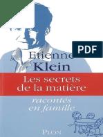 2008 - Les secrets de la matiere - Etienne Klein.epub
