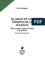 Verhaeghe Paul - El Amor en Los Tiempos de La Soledad