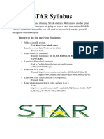 STAR Syllabus