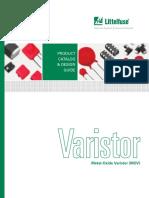Littelfuse Varistor Catalog. DISEÑO PDF